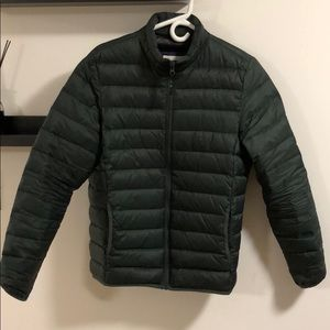 Water-Resistant Quilted Down Jacket